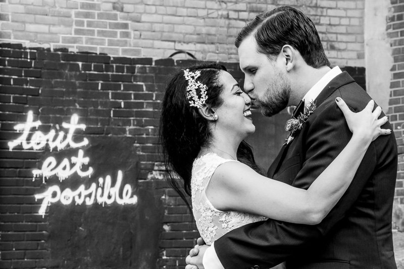 Annie and Edward's Toronto Wedding at Big Crow BBQ and Evergreen Brick Works
